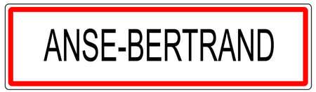 signe la circulation urbaine Anse Bertrand illustration en France Banque d'images