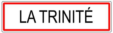 panneau de signalisation de la ville de La Trinite illustration en France