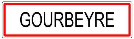 Gourbeyre ville trafic signe illustration en France Banque d'images