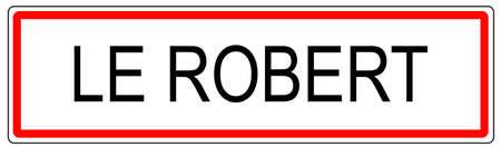 Le Robert signe de la circulation de la ville illustration en France