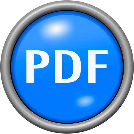 Blue design PDF in round 3D button