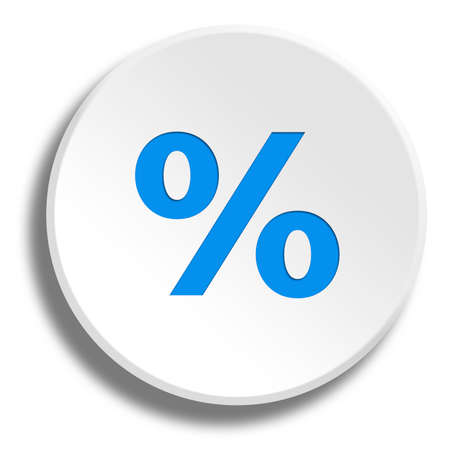 remittance: Blue percentage in round white button with shadow