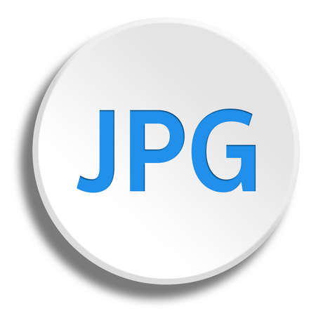 Blue JPG in round white button with shadow