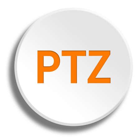 Orange ptz in round white button with shadow
