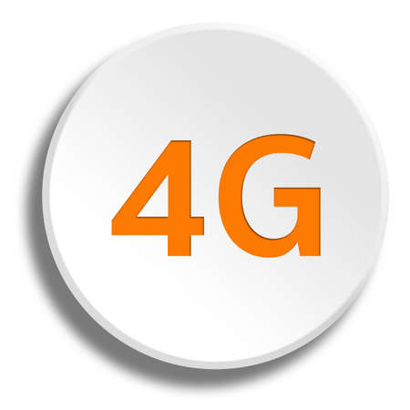 3g: Orange 4G in round white button with shadow