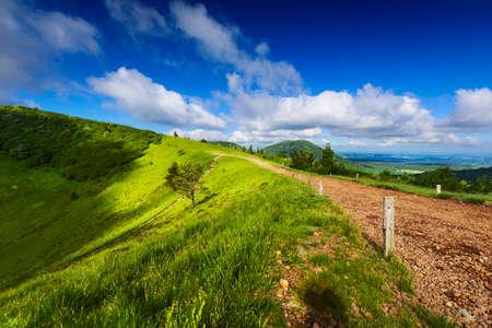 Puy Pariou and landscape of Auvergne, France