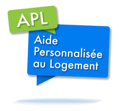 フランスの APL initals を2色の泡で 写真素材