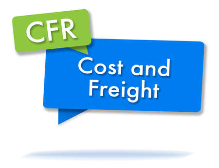 CFR incoterms initals in two colored bubbles