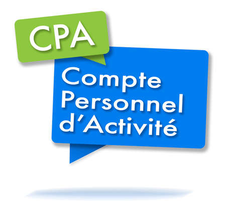 French CPA initals in two colored bubbles Stock Photo