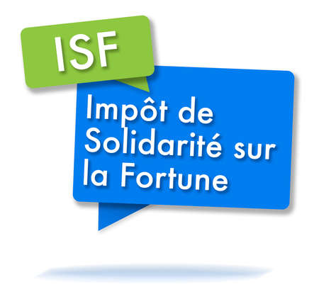 French ISF initals in two colored bubbles