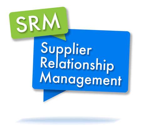 SRM initals in two colored bubbles