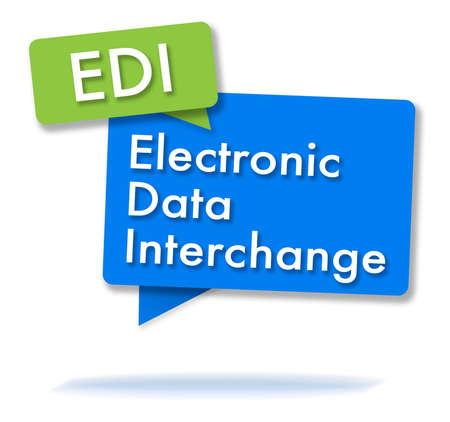 EDI initals in two colored bubbles Standard-Bild