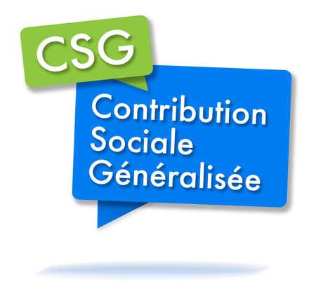 2色の泡でフランスの CSG initals 写真素材