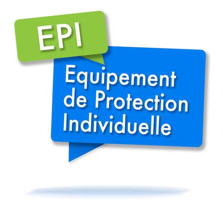 Initiales françaises du PEV en deux bulles colorées Banque d'images - 88631636