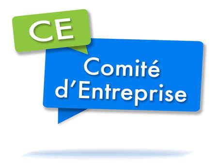 Franse CE-initialen in twee gekleurde bubbels Stockfoto - 88631646