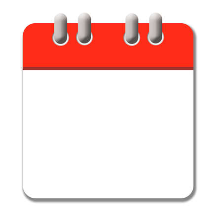 White and red calendar icon free of dates