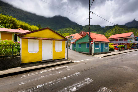 Village of Grand Ilet, Salazie at Reunion Island
