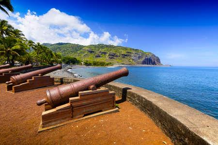 Historic gun at Le Barachois place, Saint Denis at Reunion Island Stockfoto