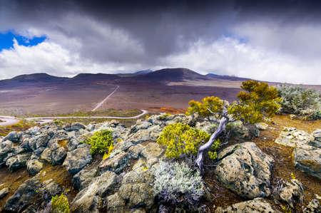 La Plaine des Sables, volcano area, Reunion Island 写真素材