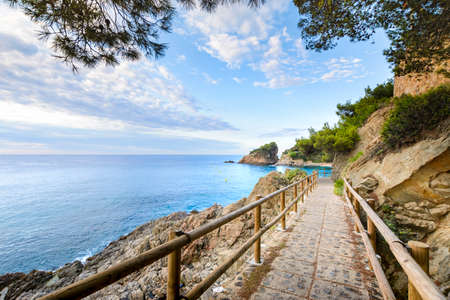 Beautiful Sant Francesc creek and beach at Blanes in Spain