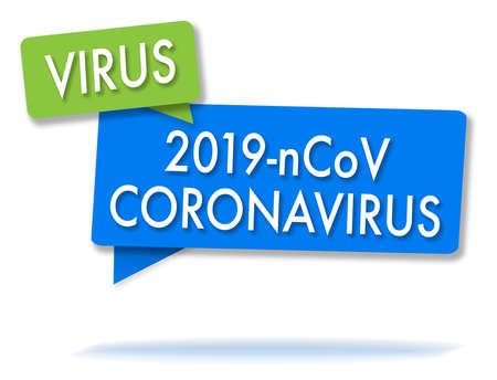 Coronavirus in two bubblesgreen and blue