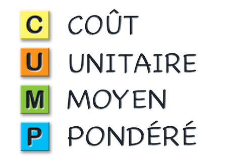 CUMP 3d initials in colored 3d cubes with 3d meaning in french language
