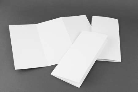 identity design, corporate templates, company style, set of booklets, blank white folding paper flyer photo