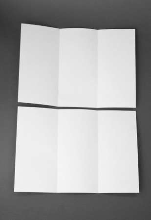 blank white folding paper flyer photo