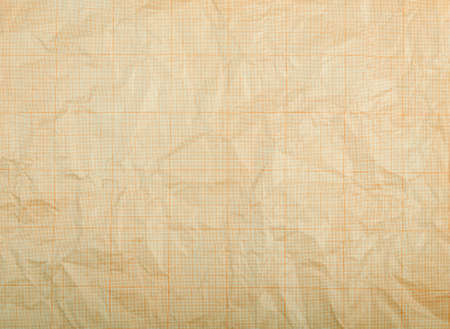 discolored: Old vintage discolored dirty graph paper