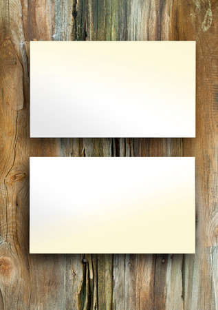 name calling: Blanks white business cards on a wooden background, identity design, corporate templates, company style