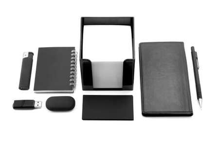 elements of corporate identity, black corporate identity, photo elements for corporate identity, set to accommodate corporate identity, collection of corporate identity, isolated on white background photo