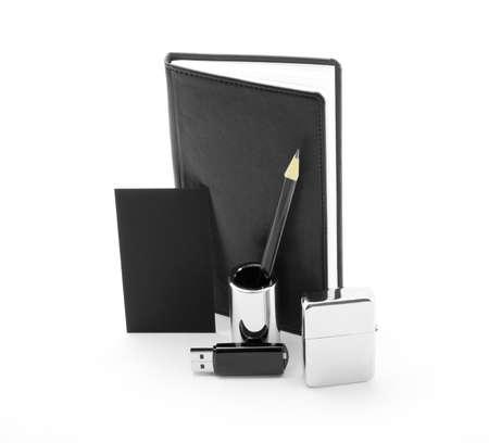 identity design, corporate templates, company style, set of office stationery, isolated on white background photo