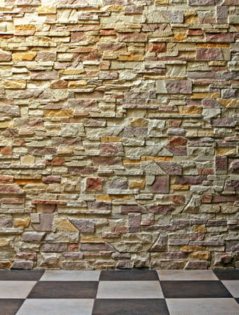 lath in modern: Pattern of Modern Brick Wall and floor Stock Photo