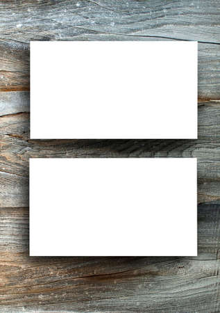 visiting card design: Blanks white business cards on a wooden background, identity design, corporate templates, company style