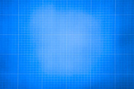Millimeter engineering paper. Blue graph paper background. Graph paper for building and architectural drawings photo
