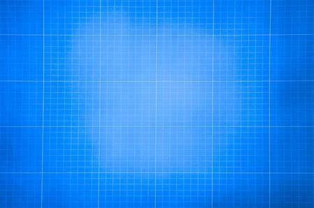 Millimeter techniek papier. Blauwe grafiek papier achtergrond. Ruitjespapier voor de bouw en bouwkundige tekeningen Stockfoto
