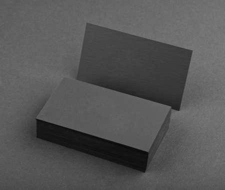 Diseño de identidad, plantillas corporativas, el estilo de la empresa, tarjetas de visita negras sobre un fondo negro Foto de archivo - 34227205