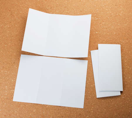 identity design, corporate templates, company style, set of booklets, blank white folding paper  flyer Stock Photo