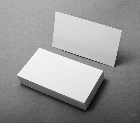 to pile up: blank business cards, identity design, corporate templates, company style Stock Photo