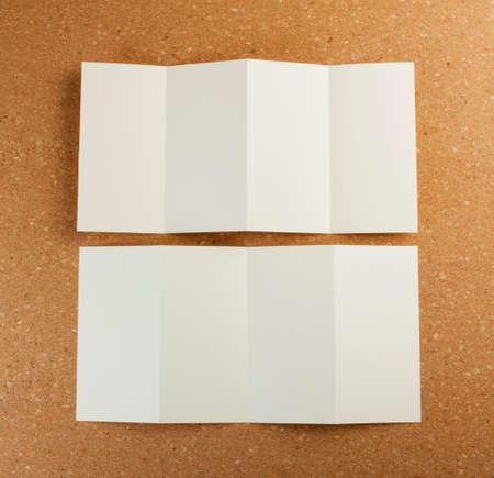 z fold: identity design, corporate templates, company style, set of booklets, blank white folding paper flyer