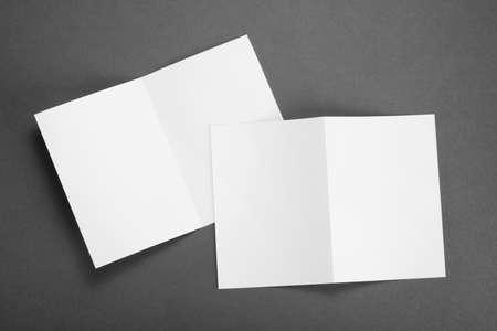 blank white folding paper flyers Reklamní fotografie