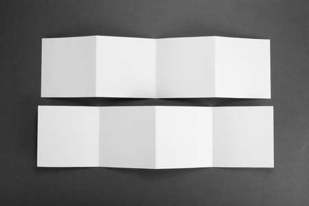 background stationary: blank white folding paper flyers Stock Photo