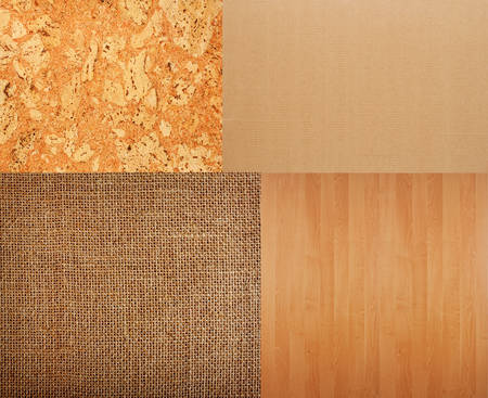 flooring cork: Collection of textures backgrounds - burlap, cork, timber, corrugated