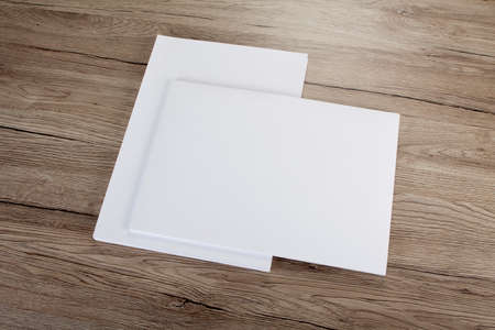 Blank flyer poster on wood to replace your design