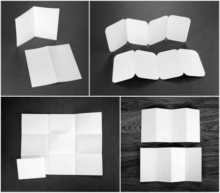 Identity design, corporate templates, company style, set of booklets, blank white folding paper flyer Reklamní fotografie
