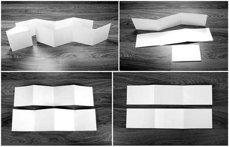zig: Identity design, corporate templates, company style, set of booklets, blank white folding paper flyer Stock Photo