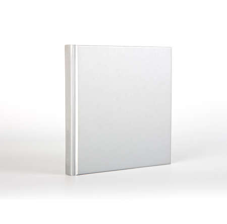 blank book cover: Blank book cover over white background with shadow Stock Photo