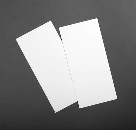 replace: Blank flyer poster over grey background to replace your design