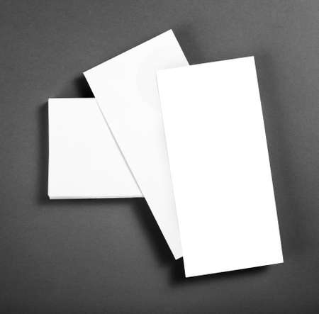 note booklet: Blank flyer poster over grey background to replace your design