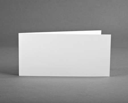 handouts: White empty closed card on grey to replace your design